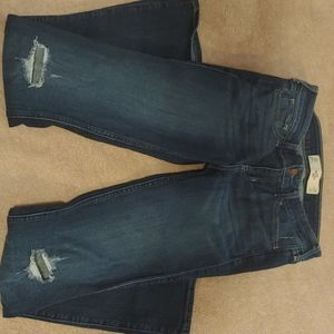 Hollister distressed knee bootcut jeans